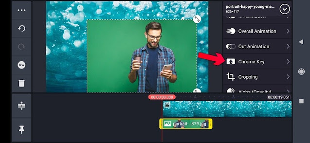How to remove the green background from pictures
