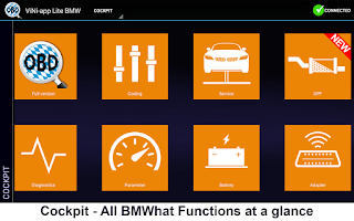 Screenshot of Carly for BMW