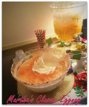 Martha's Classic Eggnog Recipe