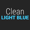 GO Contacts Clean Light Blue icon