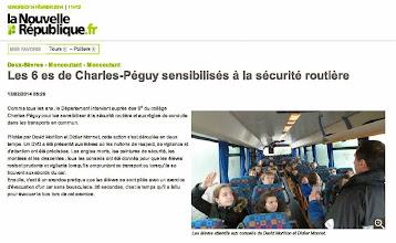 Photo: 2014-02-13 NR Les 6 èmes de Charles-Péguy sensibilisés à la sécurité routière