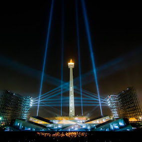 ARIAH The Show.... by Said Rizky - News & Events Entertainment ( blue, jakarta, monument, light, stage )