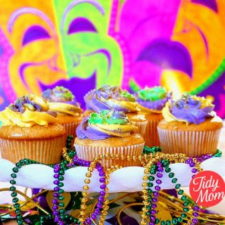 Mardi Gras Cupcakes | French Vanilla Butter Rum Recipe