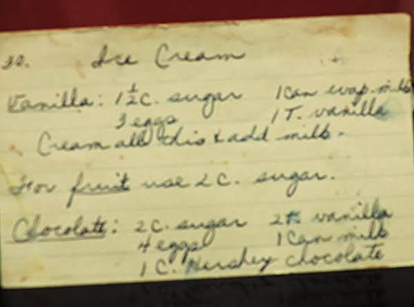 Home Made  Vanilla Ice Cream (fruit Optional)
