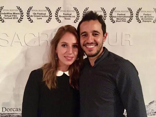 Nora et Samir Harrag Président du Studio Ciné Magueule