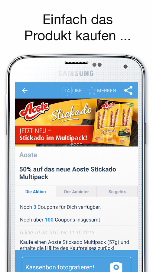 COUPIES - Spare Geld mit Coupons im Supermarkt- screenshot