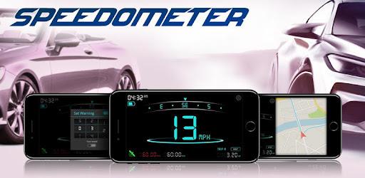 Android digital GPS speedometer app. Check mobile speed, car speed, flight speed