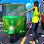 City Tuk Tuk Rickshaw Passenger Driving