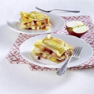 Apfel-Preiselbeer-Lasagne