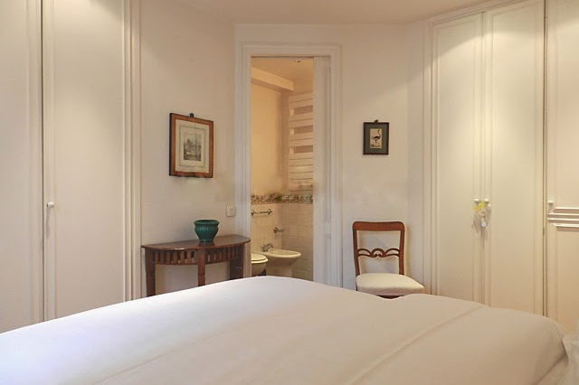 Master bedroom at 2 bedroom Apartment with St Germain Views