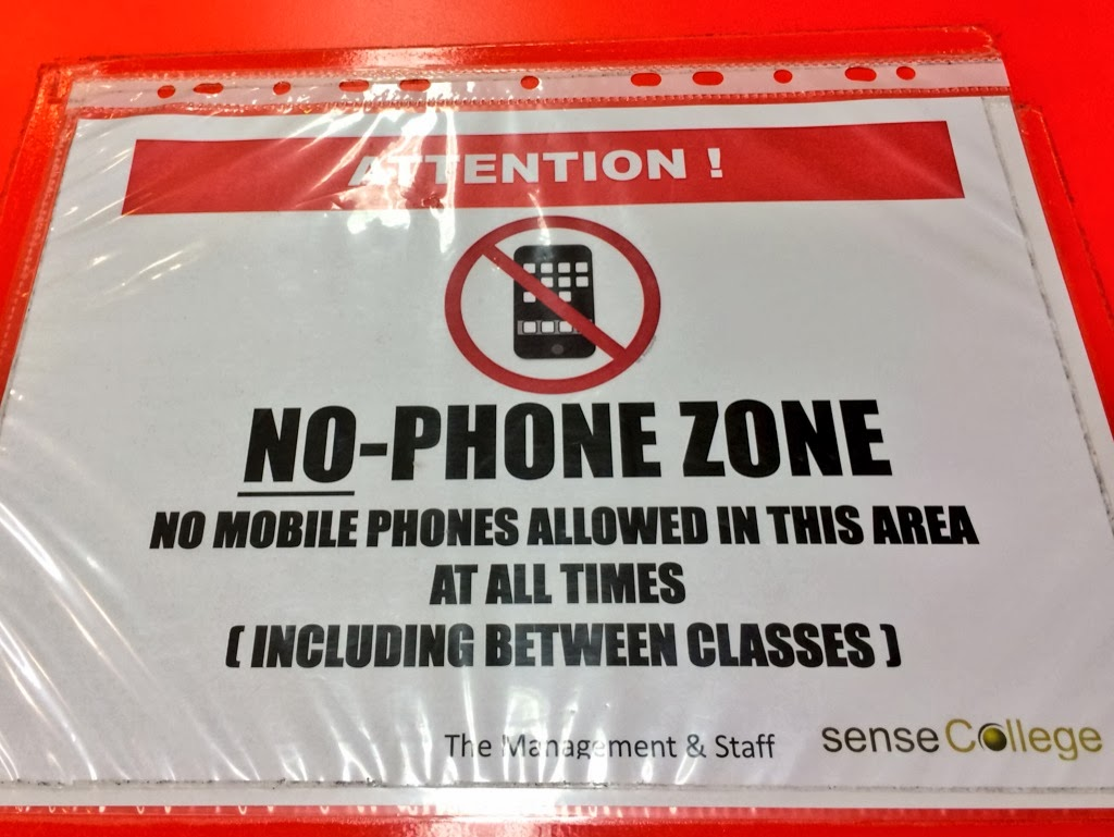 No phone zone.