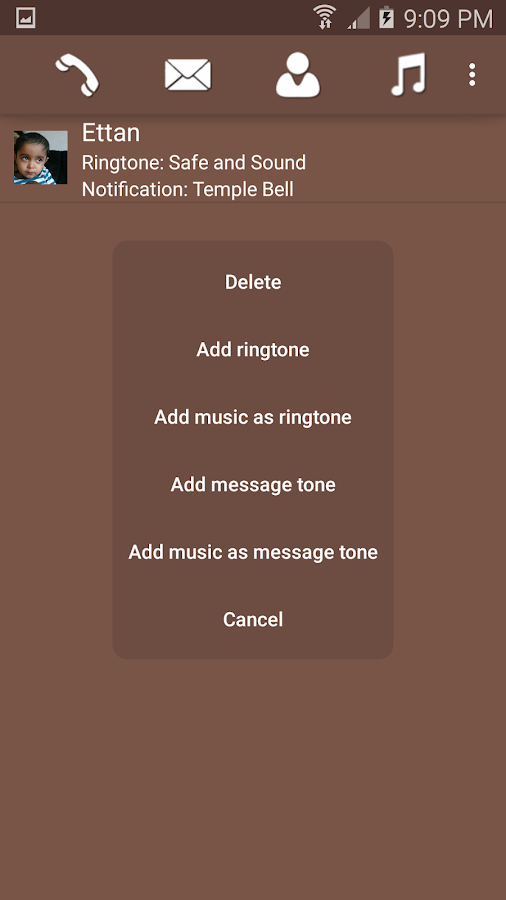 Configure Ringtone- screenshot