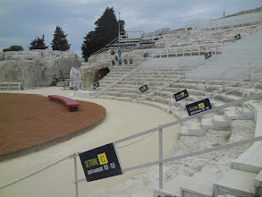 Photo: Theatre sections used when plays are shown in the 2500+ year old venue.