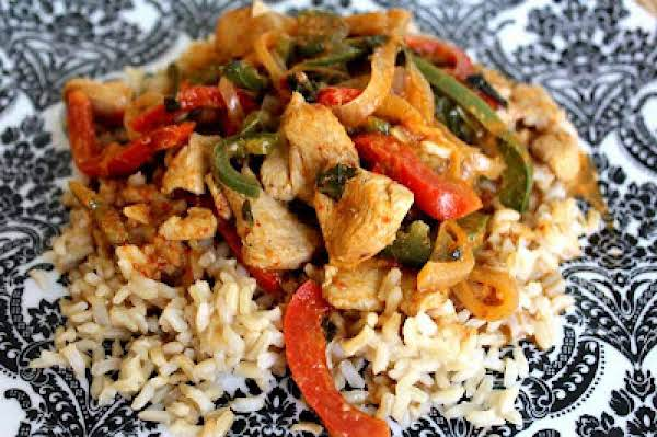Curry Chicken With Peppers