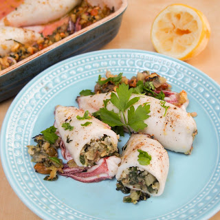Sicilian-style Stuffed Squid