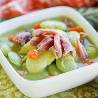 {Pressure Cooker} Lima Bean & Ham Soup.