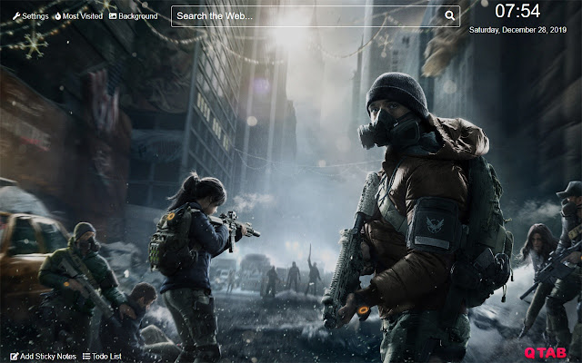 Tom Clancy the devision Wallpaper for New Tab
