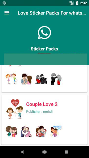 Love Stickers Packs - WAStickerApps - screenshot