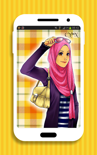 Cute Hijab Theme for BBM