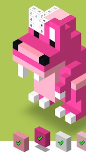 Color by Number 3D, Voxly - Unicorn Pixel Art - Android ...