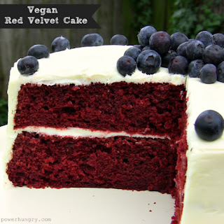 Vegan Red Velvet Cake.