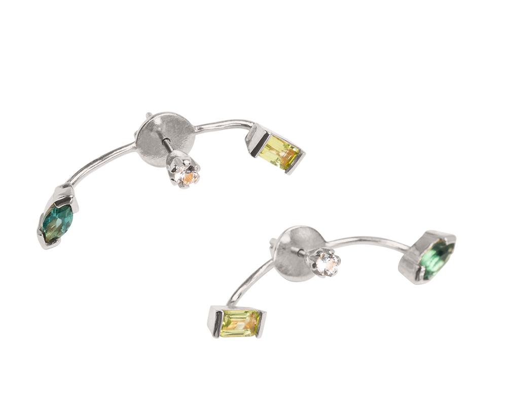 Örhängen Cornelia Webb Sterling silver med peridot och grön