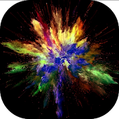 Video live wallpaper - colorful explosion