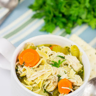 Slow Cooker Chicken Noodle Soup.