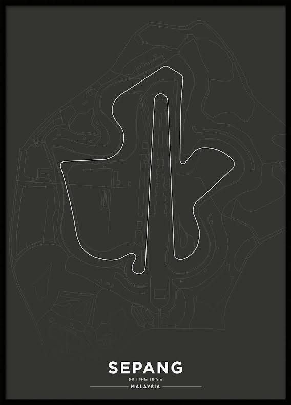 Poster, Sepang International Circuit Formula 1 Print