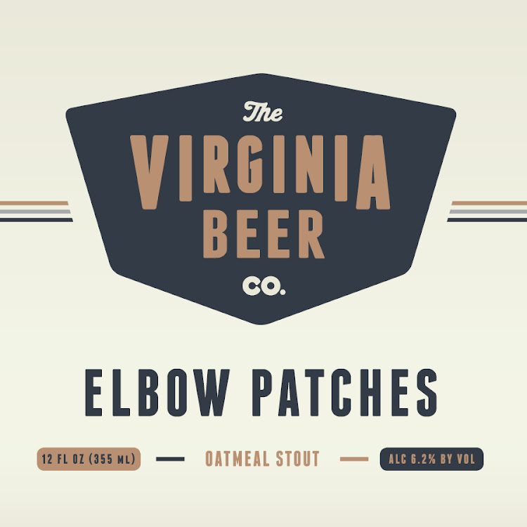 Logo of Virginia Beer Co. Elbow Patches