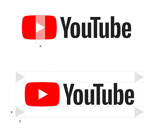 YouTube logo, full color, on a light backround