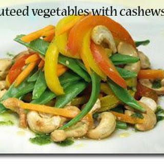 Sautéed Vegetables with Cashews