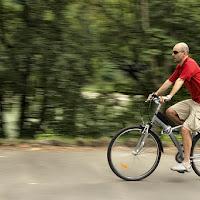 In bicicletta panning di