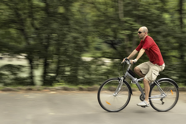 In bicicletta panning di adele