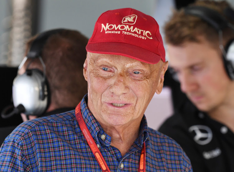 Niki Lauda was hospitalised in January with influenza and had a lung transplant last August.