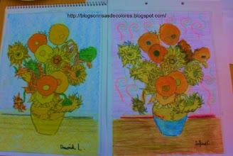 "Photo: Van Gogh ""Los girasoles"" 4ºB"