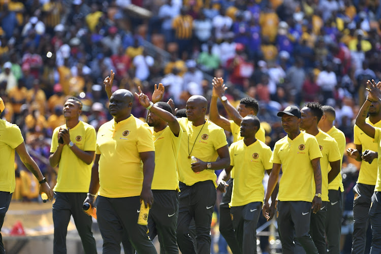 Kaizer Chiefs Players during the Absa Premiership match between Orlando Pirates and Kaizer Chiefs at FNB Stadium on October 27, 2018 in Johannesburg, South Africa.