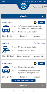 Tsavaari - Official App of Hyderabad Metro Rail Screenshot