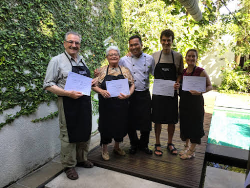 Indonesia. Bali Cooking Class. Certified from our Balinese cooking class with Chef Mandge
