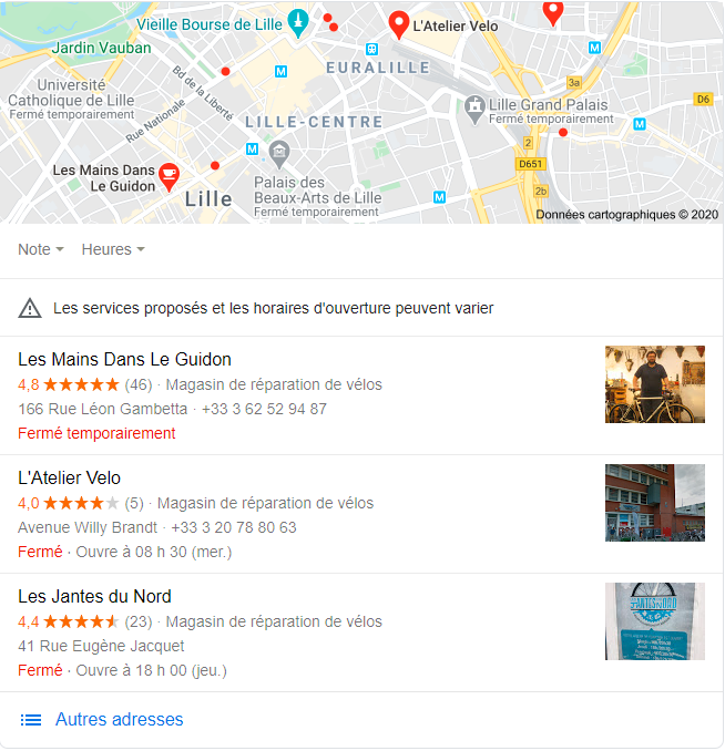 exemples Google My Business