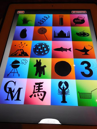 The iPad menu at Qsine.