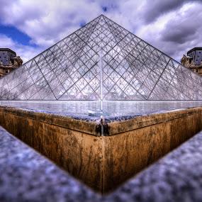 Louvre Pyramid by Morten Pettersen - City,  Street & Park  Historic Districts