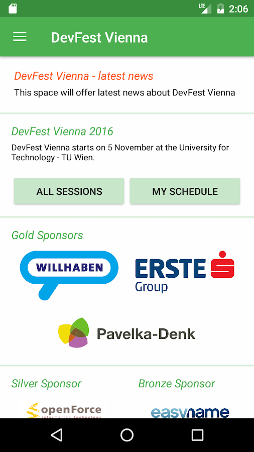 DevFest Vienna 2016- screenshot