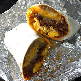 Chorizo Breakfast Burritos.