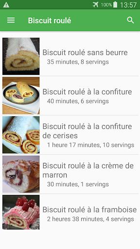 Biscuit roulu00e9 avec calories recettes en franu00e7ais. 2.14.10021 screenshots 3