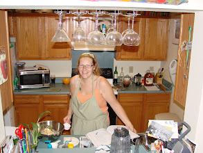 Photo: Cooking was a passion - even when you don't have enough space!