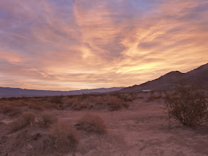 Photo: Sunrise. Stovepipe Wells camp.