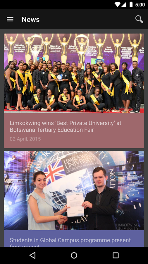 Limkokwing University- screenshot