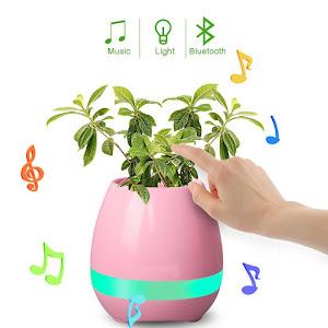 Ghiveci inteligent cu muzica si lampa de veghe, functie tactila