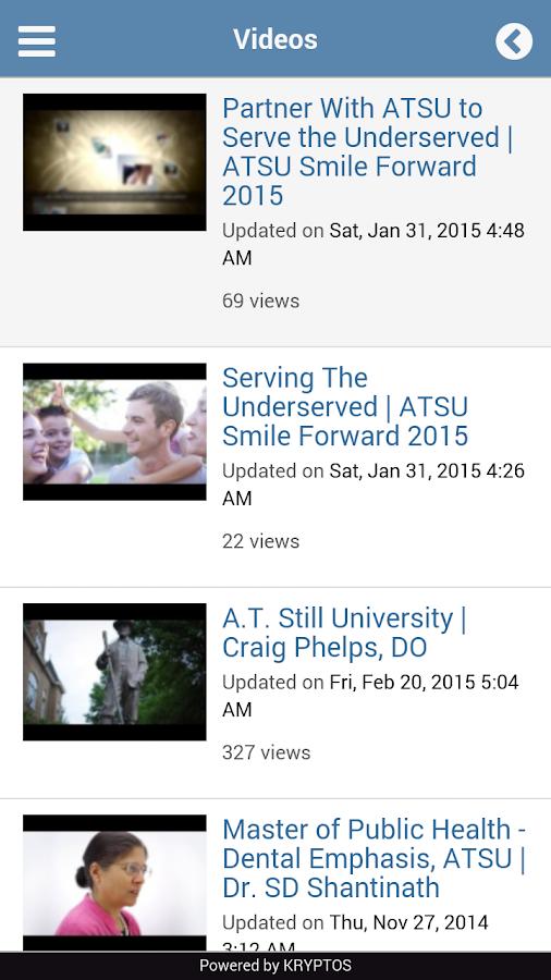 My ATSU Mobile - screenshot